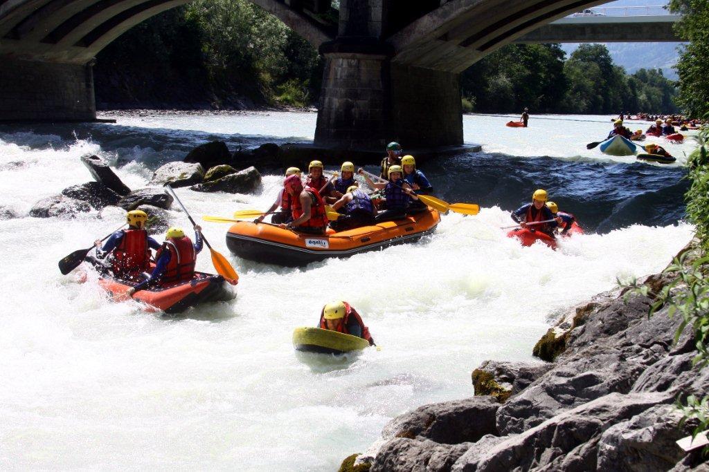 Mix Raft Canoraft Hydrospeed sur Arve