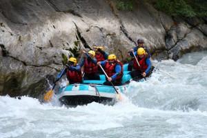 Rafting gorges d'avise sur la dora baltea