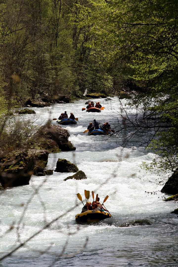 rafting bucolique sur la Dranse