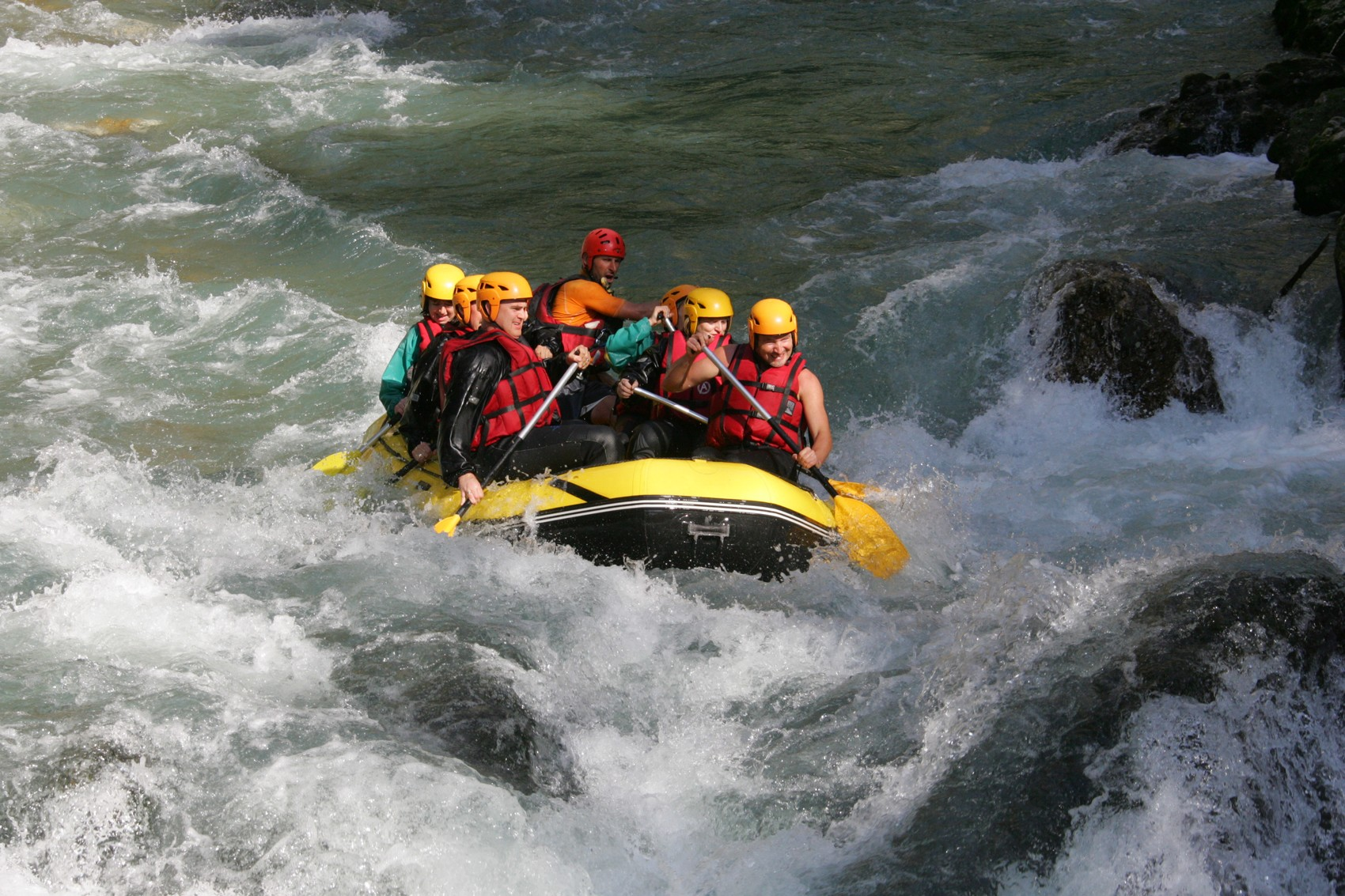 rafting dranse avec yvan
