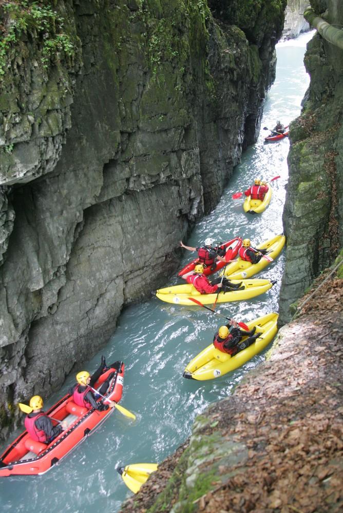 canoraft et airboat dans les gorges